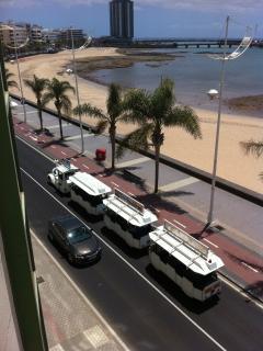 The mini train in Arrecife