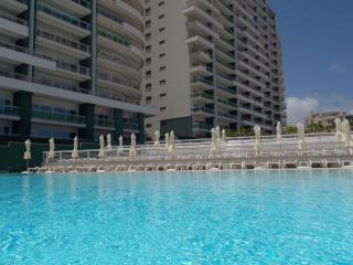 The large outdoor communal pool