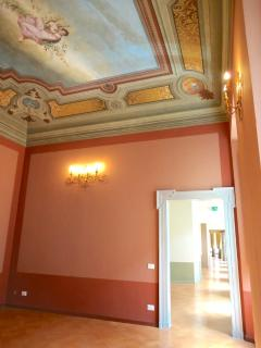 Beautiful fresco's in Palazzo Morichelli d'Altemps  event rooms