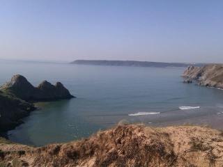View of Three Cliffs Bay (10 mins walk from chalet)