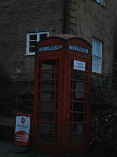 Phone box opposite Holly Cottage