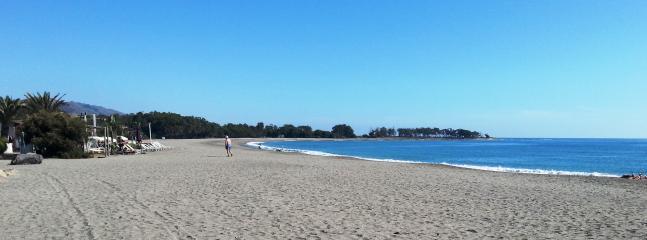 Miles of sandy beach