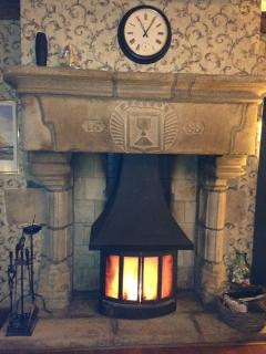 Woodburner and 1688 Fireplace