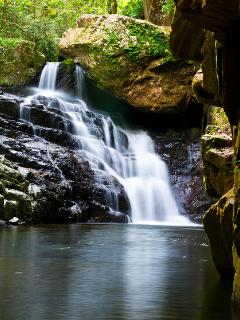 The secret waterfall, great for swimming and just 12 minutes walk away from Wanggulay front door