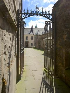 Entrance to the historic Tweeddale Court and courtyard