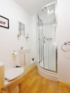 Recently installed en-suite shower room