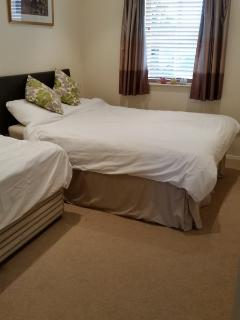 Bedroom 2  -  with one double and one single bed.