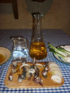 Home made specialties, sardines in olive oil