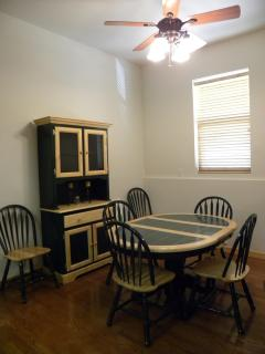 Six-seater dining room, also just off the kitchen.