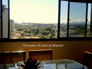 Apartamento 3 km Mineirao 8 pessoas Segurança 24hs, Belo Horizonte