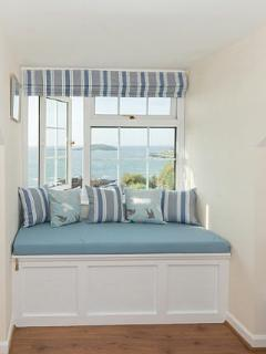 A perfect place to sit and enjoy the lovely views across the bay and Looe Island