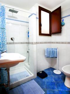 The bathroom with a spacious  shower - Il bagno con una spaziosa doccia