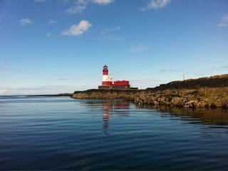 Longstone Light on the nearby Farne Islands