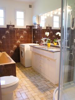 Salle de bain : Baignoire + Lave Linge + WC