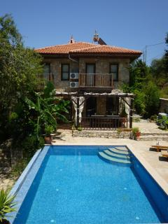 Sunny Villa Gelincik. The pool gets all-day sun - great for working on your tan!