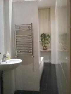 Bathroom with power shower and hand held spray