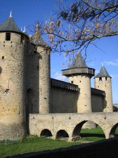 Carcassonne Donjon at the centre of the castle walls