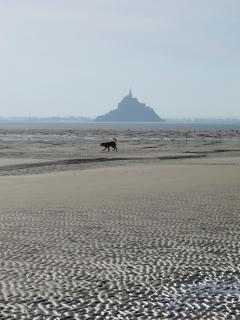 Beach by Mont St Michel