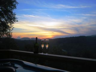 Sunset, champagne, hot tub...need we say more?