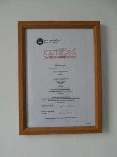 Northern Ireland Tourist Board Certification