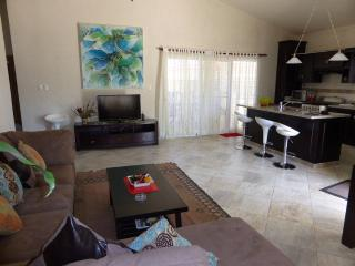 Wide Ocean View with huge pool deck housing a 12,700 gal pool; palapa bar with BBQ, private stairway from Master bedroom to pool deck. An elegant retreat with cool breezes. (725), Cabarete