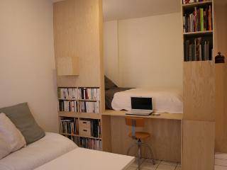 appart, design , mezzanine, calme donnant sur jard