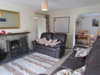 Living Room - Living Room with fantastic Open Log/ Coal Fire and Dining Area in Greenbank.