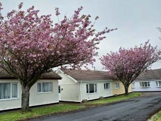 Holiday Bungalow with shared pool in Scurlage., Swansea County