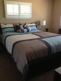 King Size Bed in Master Bedroom with Safe