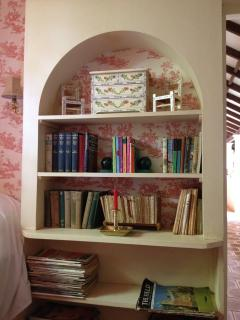 bedroom bookshelves - the house has 1,000s of books