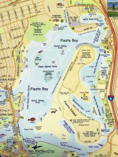 This is a map of Fiesta Island and surrounding areas.  The Cottage is on the other side of Hwy 5.