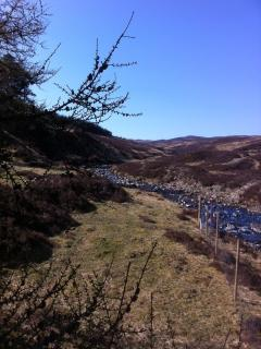 nearby Glen Banvie, an easy walk through woods and open moorland