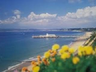 Views from East Cliff overcliff promenade of Bournemouth 4km award winning beaches.