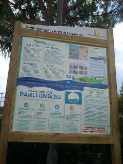 Le pavillon eau bleu.