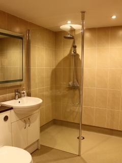 Downstairs en-suite shower wet room to the twin bedroom