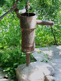 Traditional village water pump