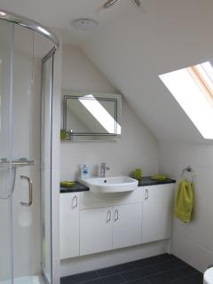 Shower en-suite to the upstairs King bedroom