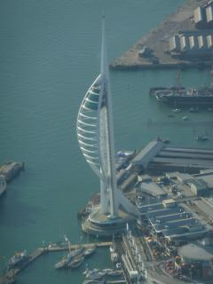 Spinnaker tower from above