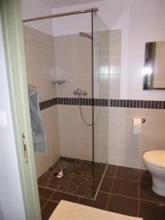 and the en suite bathroom