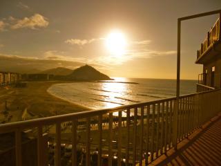 Atico primera linea de playa, terraza, vistas mar, San Sebastian - Donostia