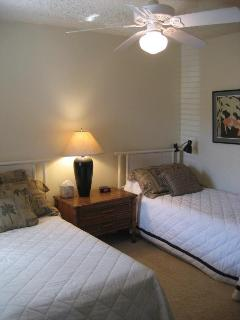 second bedroom has twin beds and can be made to king size bed