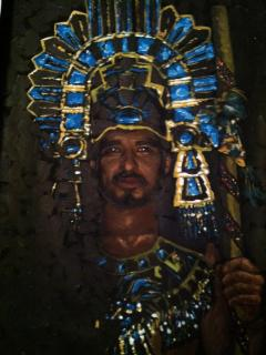 portrait of an Aztec Warrior