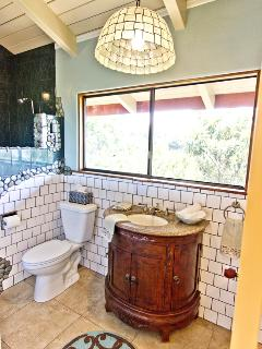 Bathroom with ocean view shower