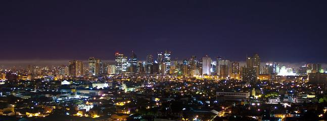 Makati skyline view