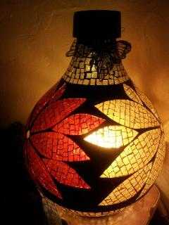 Hand made lamp. One of many beautiful moroccan features in the Moroccan salon.