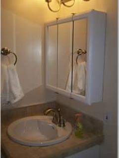Newly remodeled bathroom sink