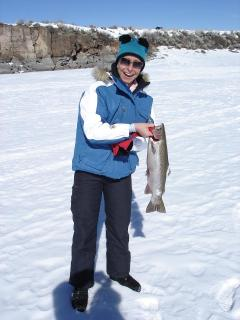Ice fishing at Panguitch Lake produces trophy trout. Year 'round great fishing.