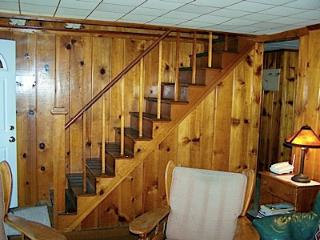 Living room and stairs to upstairs bedrooms