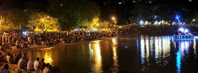 Concert on Slanica beach - 900m airdistance from the apartment.