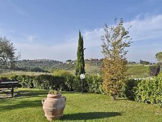 Vista panoramica dal giardino